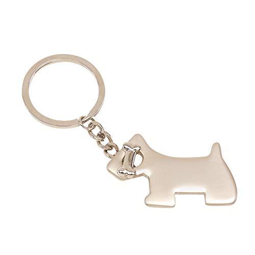 Hund mit Knochen Schlüsselanhänger Metall in Geschenkbox | Geschenk für Männer | Frauen | Damen | Glück | Glücksbringer | Dog | Hunderasse | Hundehalter