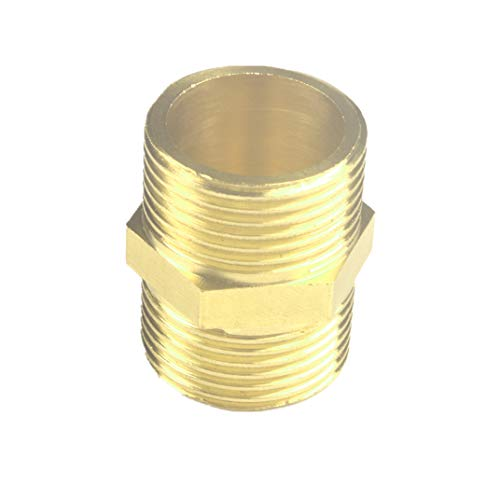 1/2'' Pipe Adapter Gas Connector Pipe Nipple Flare Brass Propane Hoses Fitting for Bathroom Faucet (10, 1/2''NPT male -1/2''NPT male)