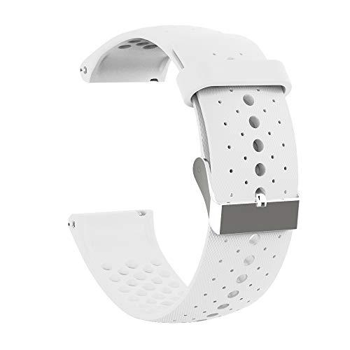 Pulseira unissex FANZHOU de silicone macio, respirável, impermeável, compatível com o relógio smartwatch Polar Vantage M