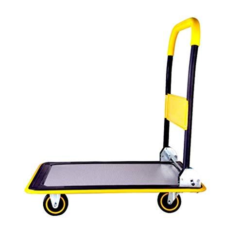 Opvouwbaar tafelblad vrachtwagen trolley, kleine pilotenwagen plat push-pull vrachtwagen stil