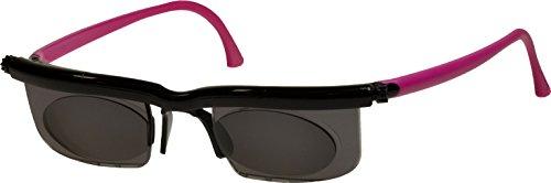 Adlens Sonnenbrille mit Sehstärke für Nah- Mittel- und Fernsichtbereich Lesebrille/schwarz pink / -4 Dioptrien