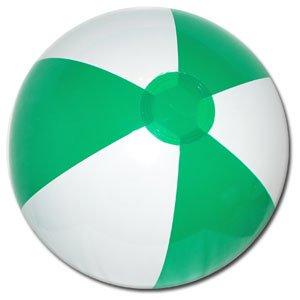Beachballs - 16'' Green & White Beach Ball