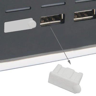 SM-PC®, 4Stk. USB Stopfen Staubschutz USB Buchse Typ A weiß #042