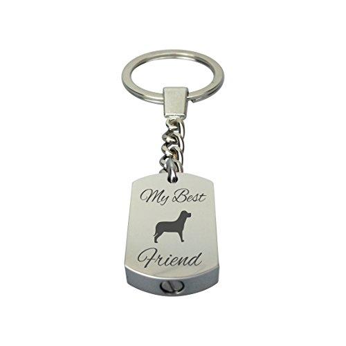 Love to Treasure Best Friend Hund Haustier Urne Schlüsselanhänger mit Gravur - Andenken Asche Andenken - Urne Schmuck