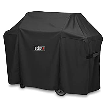 Grill Cover 7130 for Weber Genesis II 3 Burner Grill and Genesis 300 Series Grills  58 X 25 X 44.5 inches  58-inch Grill Cover,Black