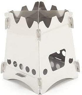 EmberLit Stainless Stove エンバーリット コンパクトウッドストーブ ステンレススチール クロスバー及びストーブ収納袋付属 日本語説明書付き [並行輸入品]