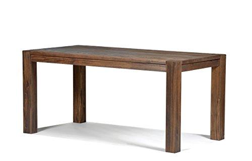 Naturholzmöbel Seidel Esstisch 160x80cm Rio Bonito Farbton Cognac braun Pinie Massivholz geölt und gewachst Holz Tisch für Esszimmer Wohnzimmer Küche, Optional: passende Bänke und Ansteckplatten