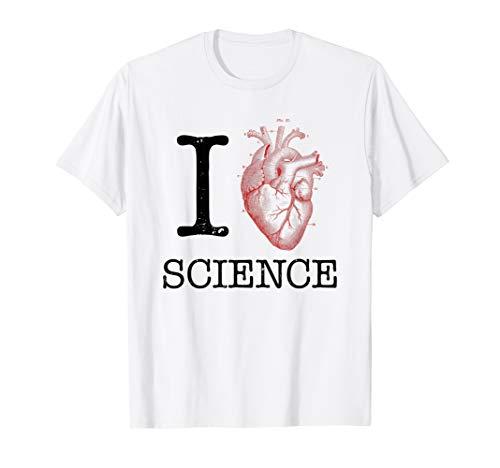 I Love Heart Science T Shirt - Biology Tee Tshirt Teacher