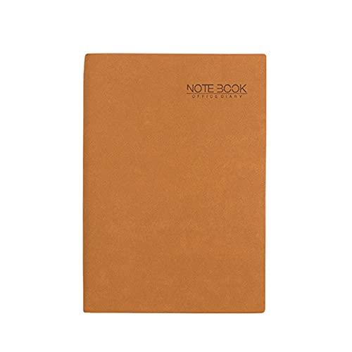 2 Piezas Cuaderno Simplicity Imitación Cuero A5 Bloc Notas Impermeable Clásico Portátil Marcador Forrado Libreta para Office School Home Business Writing,Marrón