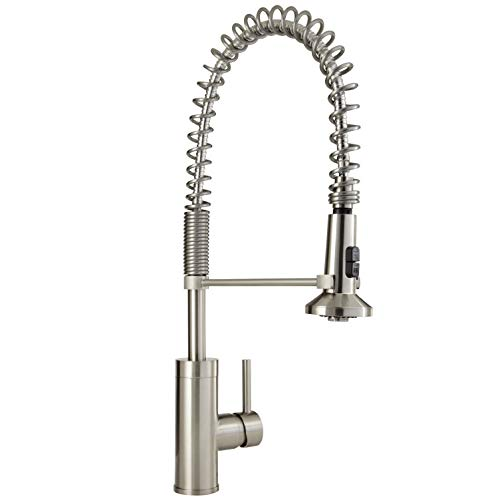 Mirabelle MIRXCPS100SS Stainless Steel Presidio Pull Down Pre-Rinse Kitchen Faucet with High Arch...