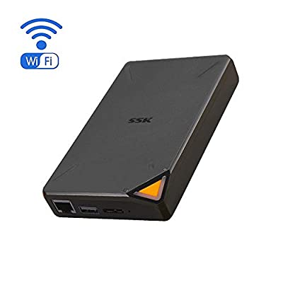 SSK Portable External Wireless Hard Drive with Own Wi-Fi Hotspot, Personal Cloud Smart Storage Support Auto-Backup, Phone/Tablet PC/Laptop Wireless Remote Access from SSK Corporation