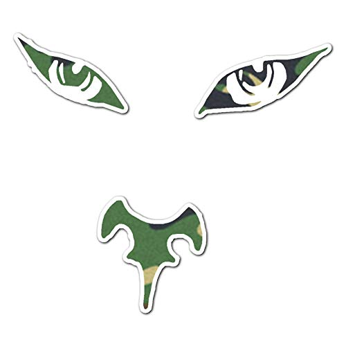 Read About Big Cat Face Eyes Nose - Vinyl Decal Sticker - 4.25 x 3.75 - Woodland