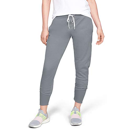 Under Armour Synthetic Fleece Jogger - Pantalones, Mujer, Gris (Steel/Tonal), S