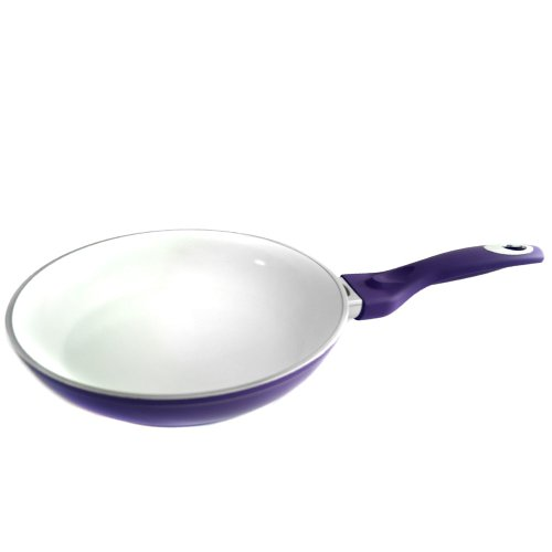 Durandal Color your Kitchen Pfanne mit Hitzeanzeige | Keramikpfanne antihaftbeschichtet | Ideal als Bratpfanne, Paella Pfanne, Wokpfanne | 20 cm lila