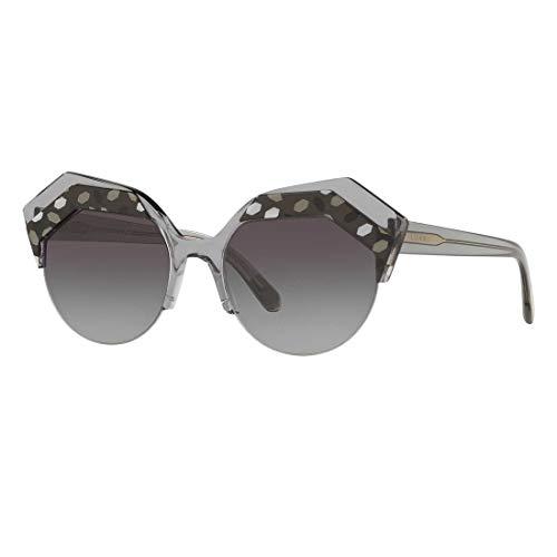 Bulgari 0BV8203 54448G 53 Gafas de sol, Negro (Grey/Black/Tr Grey/Gradient), Mujer