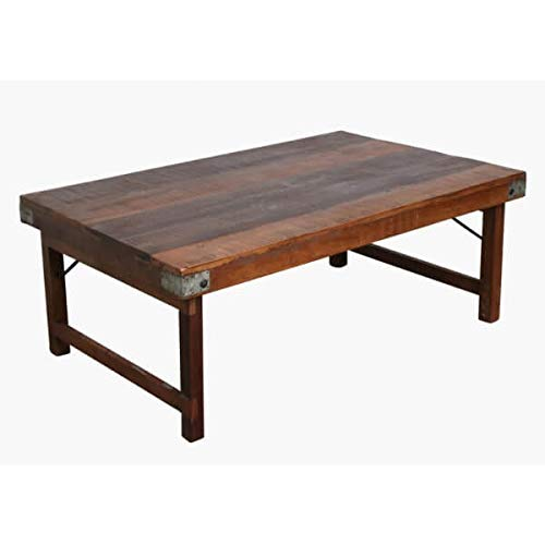 Mathi Design - Tavolino basso in legno anticato