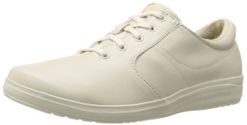 Grasshoppers Women's Stretch Plus Lace-Up Sneaker,Stone,5 W