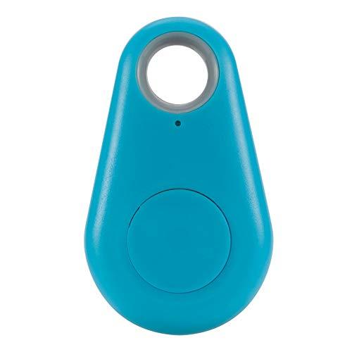 Buscador Inteligente Anti-pérdida Mini Bluetooth Tracker Bag Monedero Llave Pet Buscador Anti-perdida Localizador Alarma para niños Bolsa Cartera Llaves Smartphone(Azul)