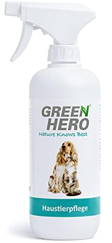 Green Hero Haustierpflege Pflegt die Haut bei Juckreiz Milben Pilz Räude Reizungen Läusen und unterstützt den Regenerationsprozess für Hund und Katze 500ml