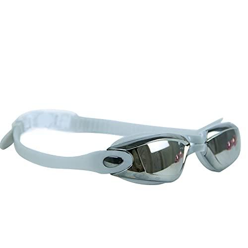 YUYDYU Gafas de natación, con diadema ajustable, sin fugas, protección UV, silicona suave, para la nariz, para adultos y niños a partir de 8 años