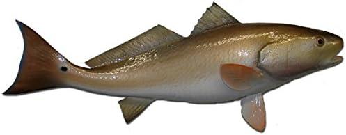New arrival Redfish Wall Mount Fish Max 65% OFF Decor Coastal Fishing Replica