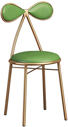 PIAOLING High Stools Dining Chair Leather Seat Bar Stool Breakfast Kitchen Counter Bar Chair, Barstool with Butterfly Back and Footrest, for Pub Café Restaurant Bar Chair Max. Load 200kg in Green
