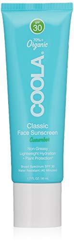 COOLA Suncare Classic Face Organic Sunscreen SPF 30 Lotion, Cucumber, 1.7 Fl Oz