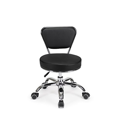 Salon Nail Pedicure Stool Pedicure Chair DAYTON BLACK Pneumatic, Adjustable, Rolling Salon Furniture & Equipment