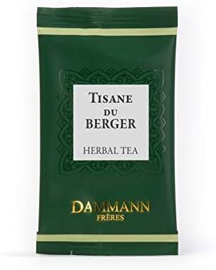 Pasticceria Passerini dal 1919 Dammann Tisane du Berger - Infusión con tila, Menta y azahar, 24 bolsitas - Dammann Frères