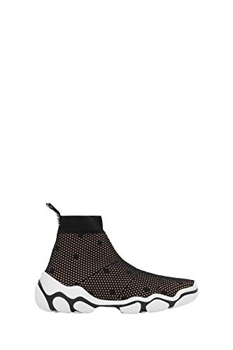 Luxury Fashion | Red Valentino Dames TQ2S0C14LJW0NO Zwart Viscose Slip On Sneakers | Lente-zomer 20