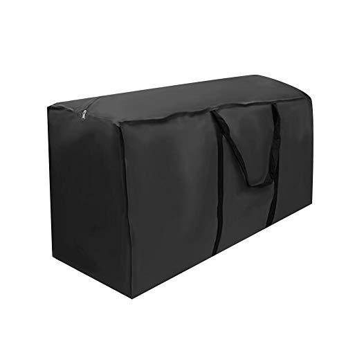 Alomejor Bolsa de almacenamiento para cojines de muebles 210D Oxford a prueba de polvo impermeable para patio, cubierta de polvo para asiento de jardín, césped, muebles de patio (173 x 76 x 51)