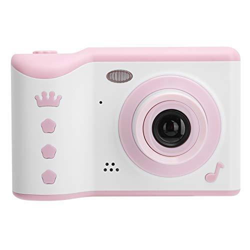 Cámara de Fotos para Niños | Infantil Cámara Digital Selfie Videocámaras para Niños Niñas | Pantalla Táctil IPS HD de 2.8 Pulgadas | Doble Objetivo & 16GB Tarjeta de Memoria(Rosa)