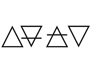 Elemental Alchemy Symbols Earth Air Fire Water Vinyl Decal  5in