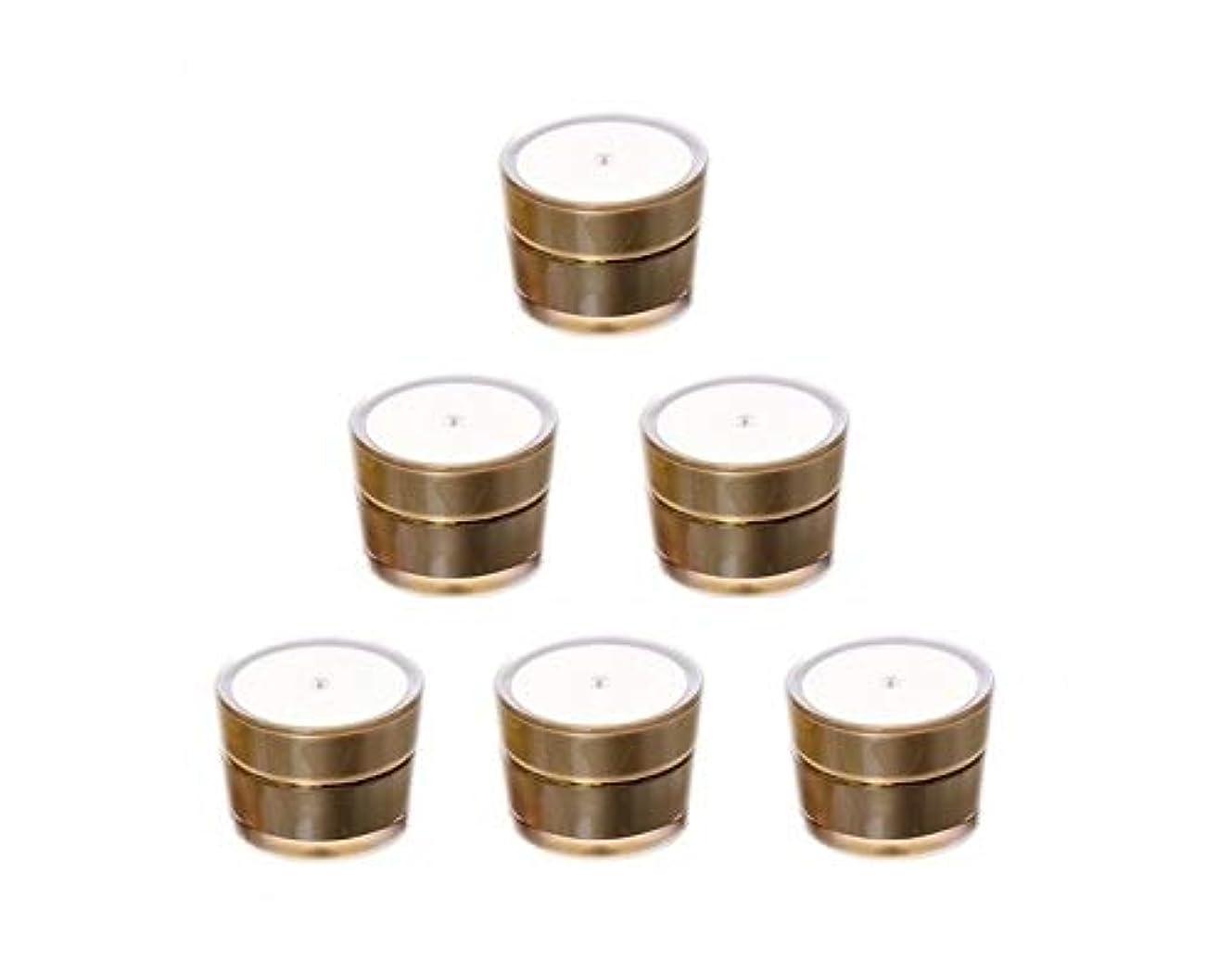 に応じてケープ火炎Bijou Cat クリーム用容器 クリームジャー容器 手作り化粧品容器 金色 5ml x 6個