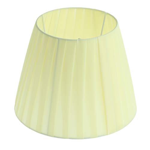 LOVIVER Pantalla de Lámpara de Escritorio para Cabezal de Lámpara E27 Dormitorio - Amarillo