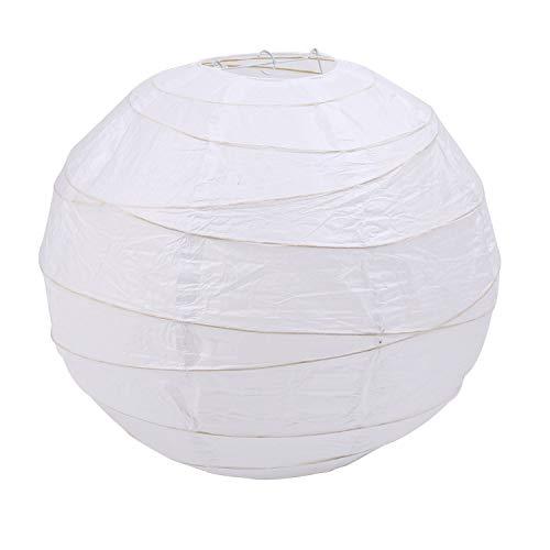 Mefeny Pantalla para lámpara colgante, color blanco, papel, 45 x 45 x 45 cm