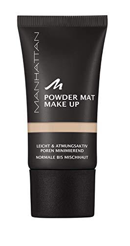 Manhattan Powder Mat Make-up, Mattierendes Puder und Foundation in einem, Farbe Rose Ivory 78, 30 ml