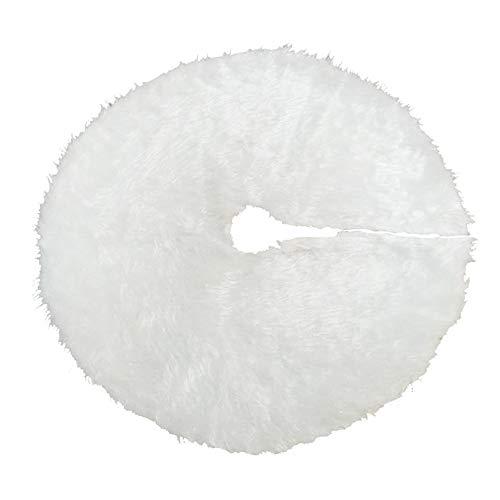 TENER Navidad árbol de Felpa Falda Blanca Pura de Pelo Largo del...
