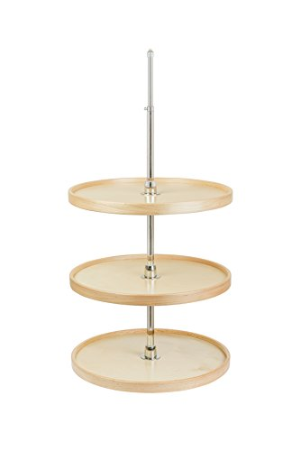Century Components CON22FRPF-CONFRWH Lazy Susan - 3 Independently Rotating Full Round Shelves, Wall Cabinet Organizer - 22'