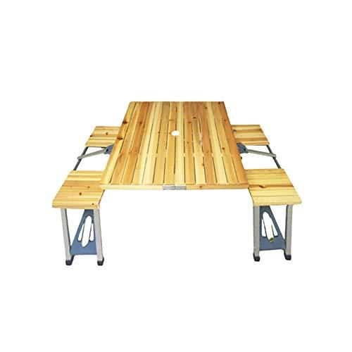 CYYAN Tavoli e sedie Pieghevoli in Legno, scatole da Campeggio all'aperto, tavoli da Esposizione pubblicitari Portatili, tavoli da Picnic Portatili