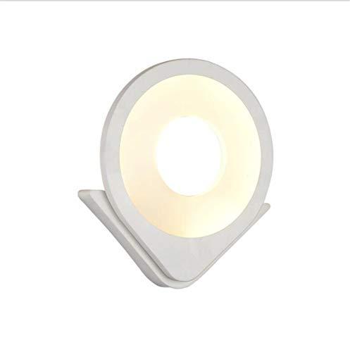 Wandlamp voor binnen en buiten, 28,5 x 24,5 cm, modern bedlampje in de vorm van een slaapkamer met wit acryl, trofee