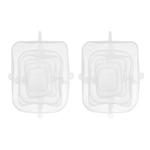 FLAMEER Tapa Elástica de Silicona de 12 Piezas Gel de Silicona Reutilizable para