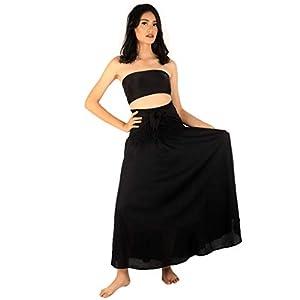 Napat Clothing - Vestido largo maxi gitano boho falda para mujer, bohemio y elegante | DeHippies.com
