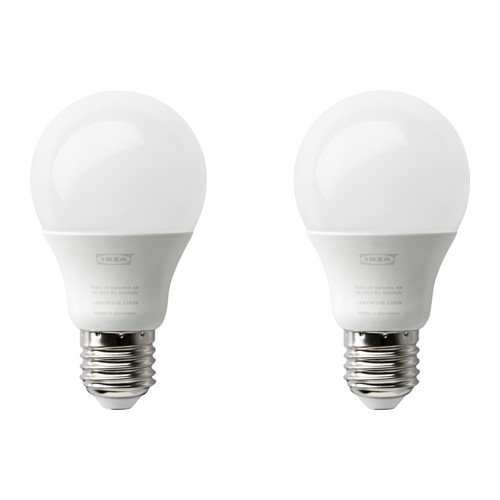 IKEA RYET LED Bulb E27 600 Lumen, Globe Opal Wh