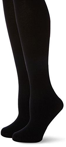 MAMALICIOUS MLJENNIE PANTYHOSE 2PACK, Collants - Maternité Femme, Not Applicable, Noir (Black), Medium (Taille fabricant: S/M)