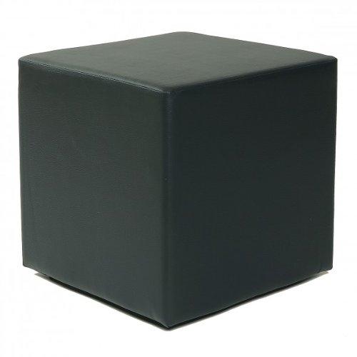 Küchen-Preisbombe Design Sitzwürfel Kubus I Kunstleder Hocker 45x45x45 cm modern in schwarz