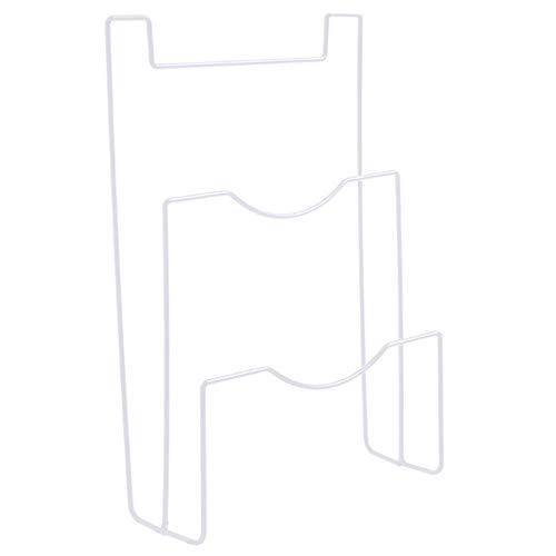 Support de rangement pour couvercle de casserole, étagère de porte de placard à suspendre - Blanc