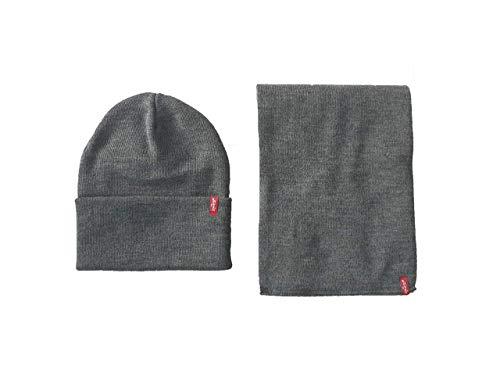 Levis Rot Tab 2 Teile Mütze Und Schal Set 223878 - Grau - grau, One Size