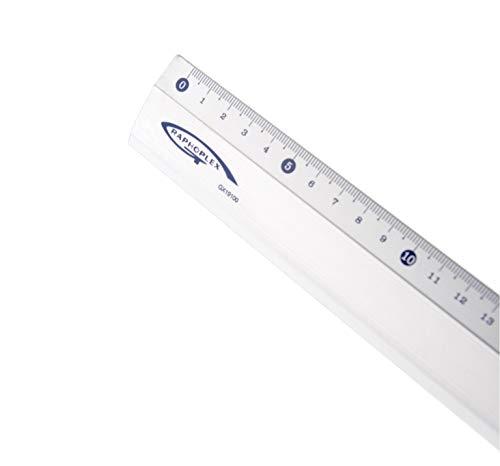 GRAPHOPLEX - Regla de aluminio (100 cm)