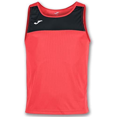 Joma Race Camisetas Caballero, Hombre, Coral/Negro, M